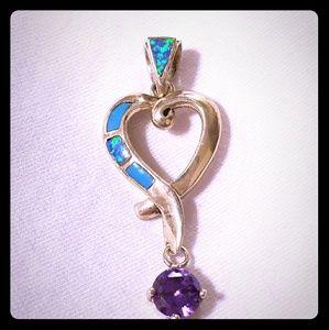 Jewelry - 925 GEMSTONE HEART PENDANT